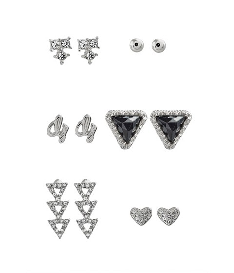 Bijuterii Femei GUESS Silver-Tone 6-Piece Stud Earrings Set silver