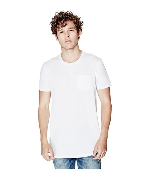 Imbracaminte Barbati GUESS Kyloo Long-Length Tee true white