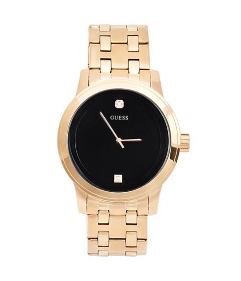 Ceasuri Barbati GUESS Black and Gold-Tone Diamond Dress Watch no color