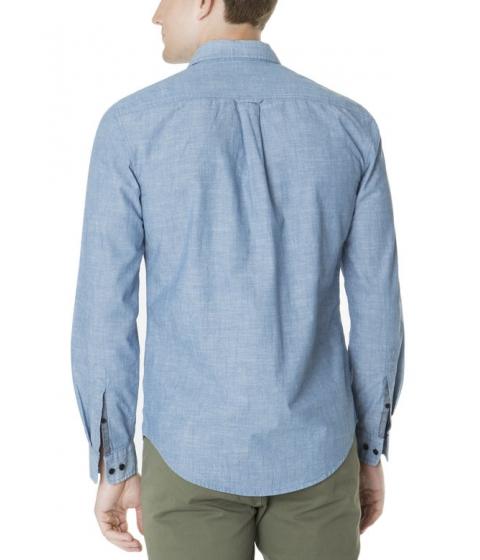 Imbracaminte Barbati US Polo Assn SLIM FIT LONG SLEEVE COTTON CANVAS SHIRT Pale Blue