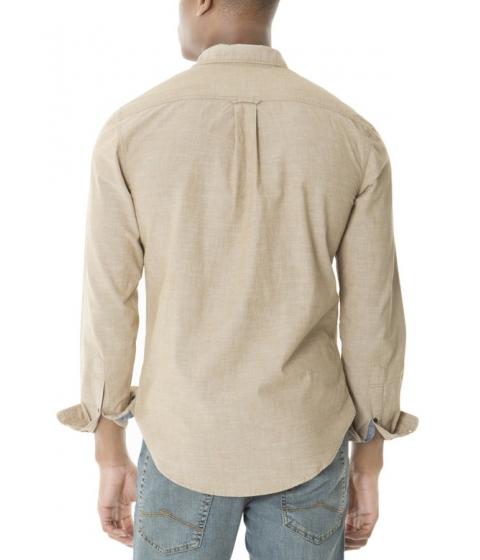 Imbracaminte Barbati US Polo Assn SLIM FIT LONG SLEEVE COTTON CANVAS SHIRT CAMEL COAT CANVAS