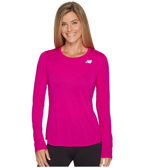 Imbracaminte Femei New Balance Accelerate Long Sleeve Poisoberry