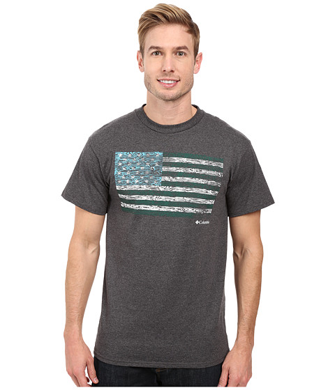 Imbracaminte Barbati Columbia CSC Tree Flagtrade Tee Dark Grey Heather