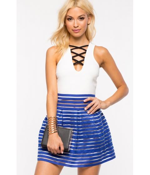 Imbracaminte Femei CheapChic My Girl Flare Skirt Neon Royal