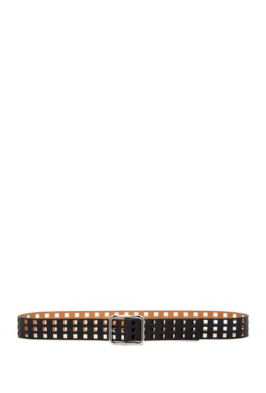 Accesorii Femei Steve Madden Perforated Reversible Belt BLK-TAN