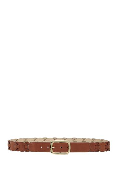Accesorii Femei Steve Madden Braided Faux Leather Jean Belt COGNAC