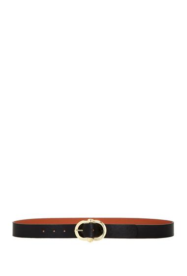 Accesorii Femei Steve Madden Reversible Smooth Belt BLK-COGNAC
