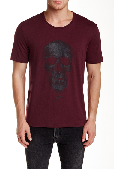 Imbracaminte Barbati The Kooples Skull Graphic Tee BURGUNDY-BLACK