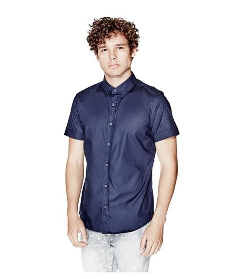 Imbracaminte Barbati GUESS Jaxson Short-Sleeve Shirt nightfall blue