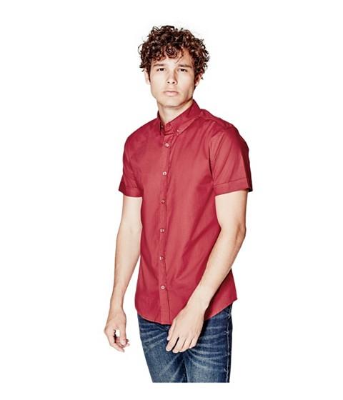 Imbracaminte Barbati GUESS Jaxson Short-Sleeve Shirt havana red