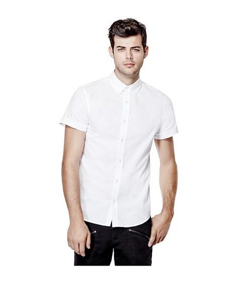 Imbracaminte Barbati GUESS Jaxson Short-Sleeve Shirt true white