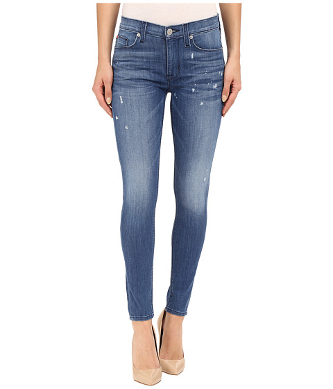 Imbracaminte Femei Hudson Nico Mid-Rise Ankle Skinny with Distress in Wipeout Wipeout