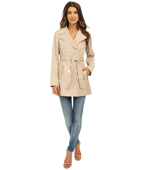 Imbracaminte Femei Jessica Simpson Double Breasted Belted Trench Stone