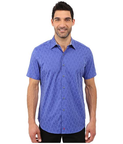 Imbracaminte Barbati Robert Graham Seven Wonders Short Sleeve Shirt Sapphire