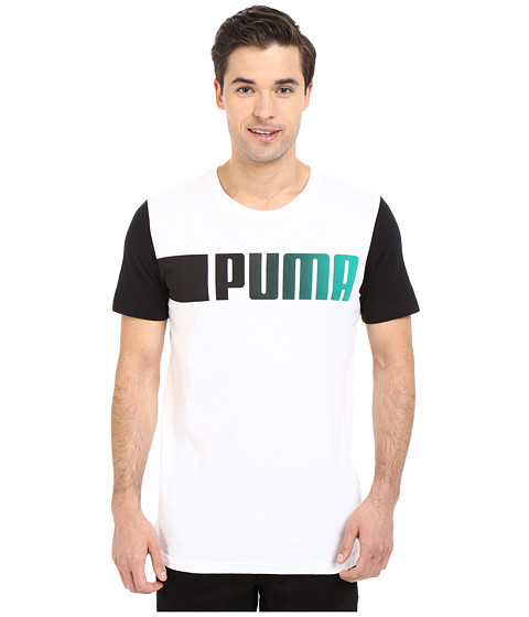 Imbracaminte Barbati PUMA Running Logo Tee White