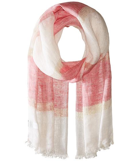 Accesorii Femei Echo Design Lurex Stripe Wrap Scarf Bright Coral
