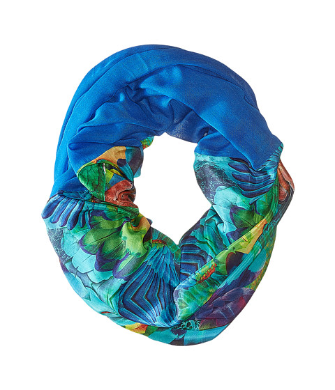 Accesorii Femei Echo Design Parrot Feathers Tubular Wrap Amazon Blue