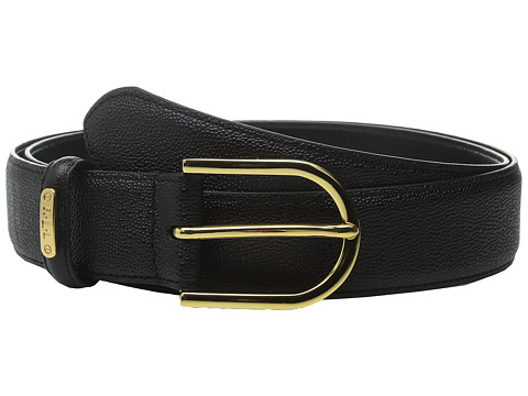 Accesorii Femei LAUREN Ralph Lauren Classics 1 38quot Faux Stingray Belt w Sculpted Endbar Black