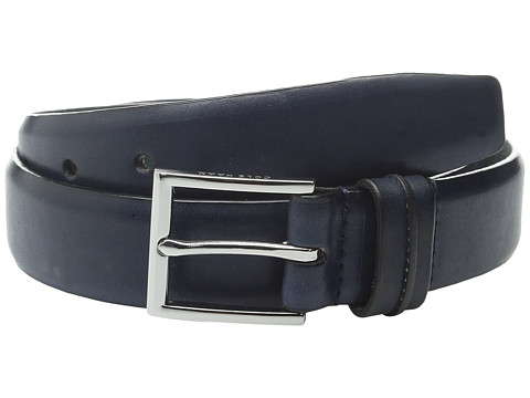 Accesorii Barbati Cole Haan 32mm Burnished Leather Harness Buckle Belt Navy
