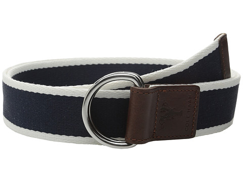 Accesorii Barbati Cole Haan 38mm Stripe Webbing Belt with Leather Trim and Double D-Rings Blue