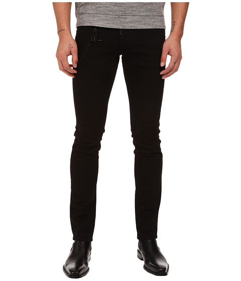 Imbracaminte Barbati DSQUARED2 Slim Black Bull Denim with Chain in Black Black