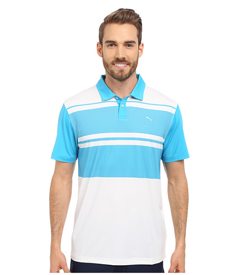 Imbracaminte Barbati PUMA Short Sleeve Patternblock Polo Atomic Blue