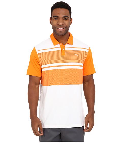 Imbracaminte Barbati PUMA Short Sleeve Patternblock Polo Vibrant Orange