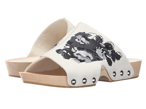 Incaltaminte Femei Alexander McQueen Sandal Pelle SGomma Silk White 161Black