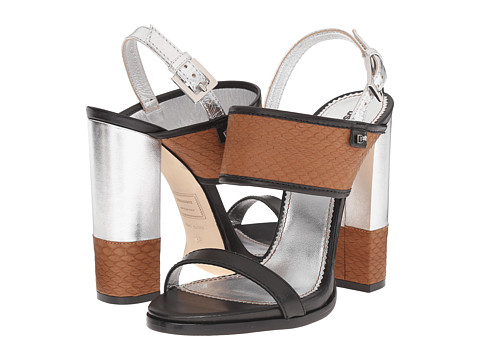 Incaltaminte Femei DSQUARED2 Sandal Cuoio Argento Ayers Nappa