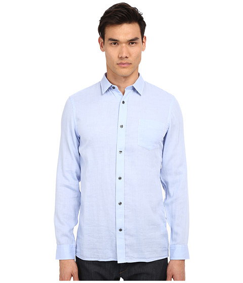 Imbracaminte Barbati Vince Long Sleeve Square Hem Double Face Shirt Skyfall Blue