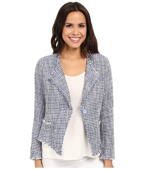 Imbracaminte Femei NYDJ Tweed Fringe Jacket Rain Cloud