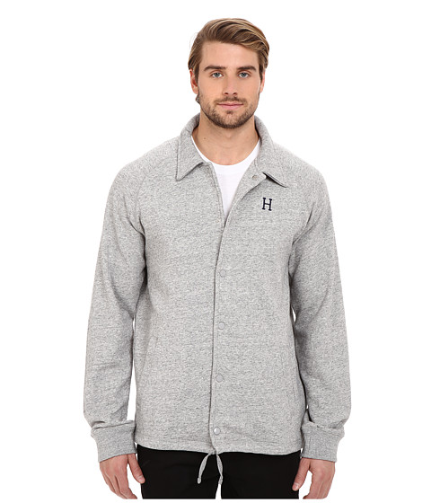 Imbracaminte Barbati Huf Fleece Coaches Jacket Grey Heather