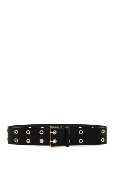 Accesorii Femei Linea Pelle Double Grommet Belt BLACK
