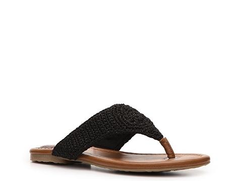 Incaltaminte Femei The Sak Shana Woven Shimmer Flat Sandal Black