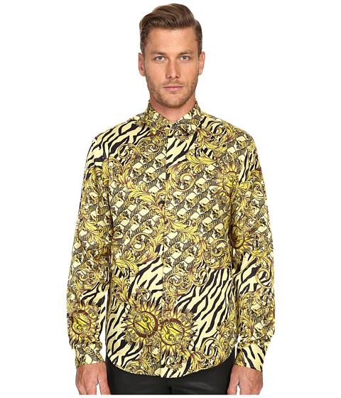 Imbracaminte Barbati Versace All Over Baroque Tiger Print Long Sleeve Button Up Gold Melange