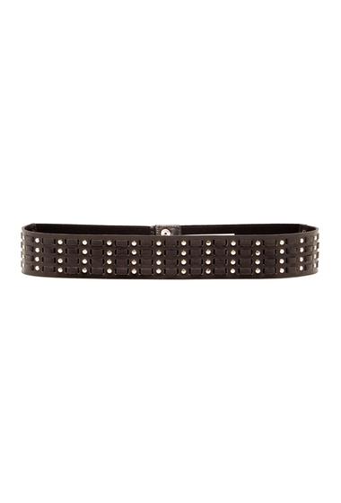 Accesorii Femei Vince Camuto Studded Stretch Leather Belt BLACK NICKEL