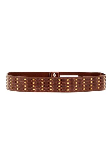 Accesorii Femei Vince Camuto Studded Stretch Leather Belt CHOCOLATE
