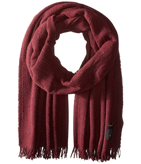 Accesorii Femei Scotch Soda Solid Woolen Gentlemen Scarf with Fringes Bordeaux Melange