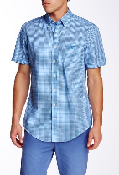 Imbracaminte Barbati Gant Rugger L Bel Air Poplin Check Short Sleeve Regular Fit Shirt LUMINARY BLUE