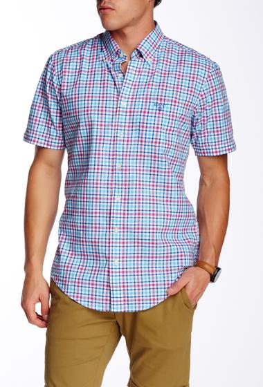 Imbracaminte Barbati Gant Rugger L Bel Air Poplin Check Short Sleeve Regular Fit Shirt PARADISE PINK