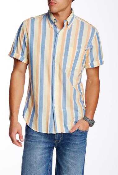 Imbracaminte Barbati Gant Rugger Vacay Madras Short Sleeve E-Z Fit Shirt DOVE BLUE
