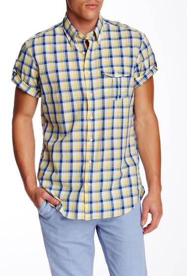 Imbracaminte Barbati Gant Rugger O Ocean Fresh Madras Check Short Sleeve Regular Fit Shirt SUNSHINE YELLOW