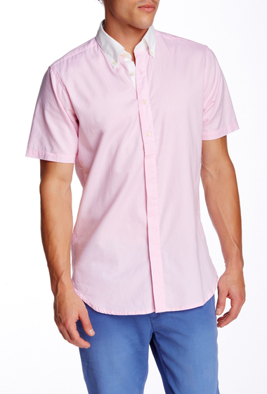 Imbracaminte Barbati Gant Rugger LA Color Short Sleeve Trim Fit Shirt PASTEL PINK
