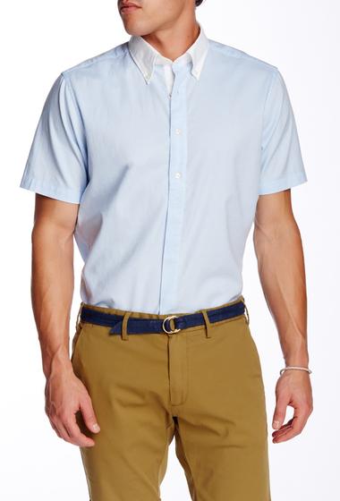 Imbracaminte Barbati Gant Rugger LA Color Short Sleeve Trim Fit Shirt SEABLUE MELANGE
