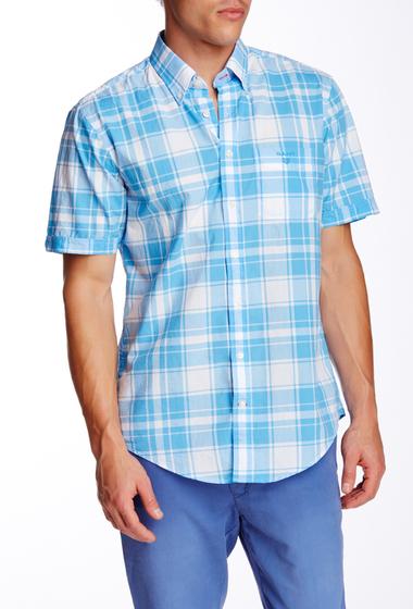 Imbracaminte Barbati Gant Rugger L Bel Air Poplin Check Regular Fit Shirt AZUR BLUE