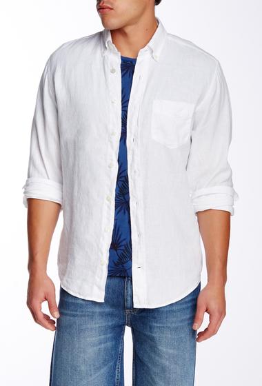 Imbracaminte Barbati Gant Rugger The Solid Long Sleeve Regular Fit Linen Shirt WHITE