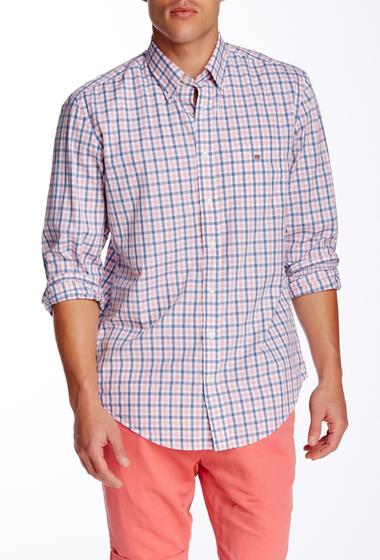 Imbracaminte Barbati Gant Rugger L Bel Air Tattersall Long Sleeve Regular Fit Shirt CYKLAMEN