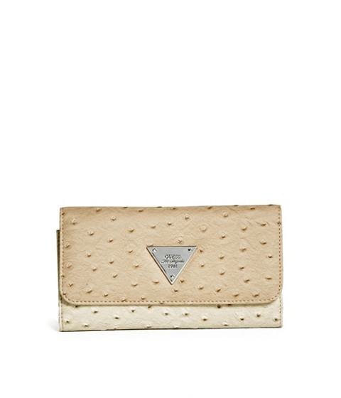 Accesorii Femei GUESS Stanwood Ostrich-Embossed Wallet nude multi