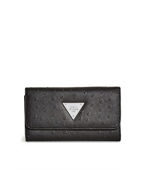 Accesorii Femei GUESS Stanwood Ostrich-Embossed Wallet black
