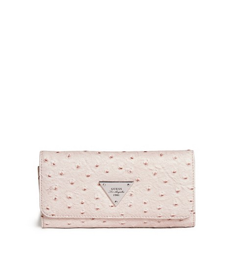 Accesorii Femei GUESS Stanwood Ostrich-Embossed Wallet blush